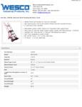 Wesco 934230036 Steel Hand Truck Specsheet