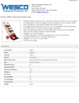 Wesco 934230074 Heavy Duty Hand Truck Specsheet