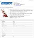 Wesco 934230075 Hand Truck Specsheet