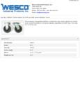 Wesco 934250047 Casters Specsheet