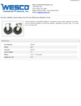 Wesco 934250049 Casters Specsheet