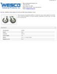 Wesco 934250050 Casters Specsheet