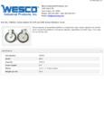 Wesco 934250053 Caster Set Specsheet