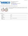 Wesco 934250055 Caster Set Specsheet