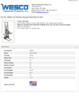 Wesco 934260005 Pedalift Specsheet