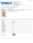 Wesco 934260025 Pedalift Specsheet