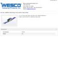 Wesco 934260096 Belt Specsheet