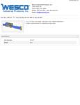 Wesco 934260147 Belt Specsheet