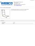 Wesco 934272150 Desk Mover Adapter Specsheet