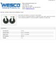 Wesco 934272192 Casters Specsheet