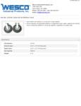 Wesco 934272194 Casters Specsheet