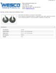 Wesco 934272195 Casters Specsheet