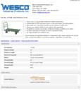Wesco 934272266 Truck Specsheet