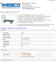 Wesco 934272269 Truck Specsheet