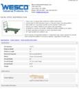 Wesco 934272271 Truck Specsheet