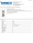 Wesco 934272411 Hand Truck Specsheet