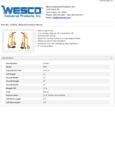Wesco 934272951 Furniture Mover Specsheet