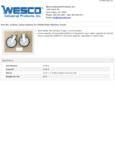 Wesco 934273613 Casters Specsheet