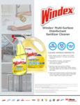 Windex 322369 Multi-Surface Disinfectant Sanitizer Cleaner Specsheet
