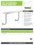 Regency Work Surface 600ESSCB24 SpecSheet