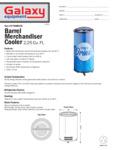 Wrapped Barrel Merchandiser Cooler Spec Sheet