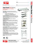 Metro Super Erecta Heated Shelves Spec Sheet
