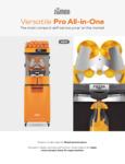 Zumex Versatile Pro All-in-One Spec Sheet