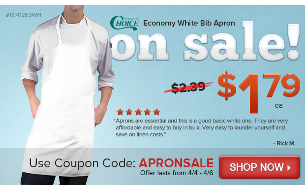 Choice Economy White Bib Apron