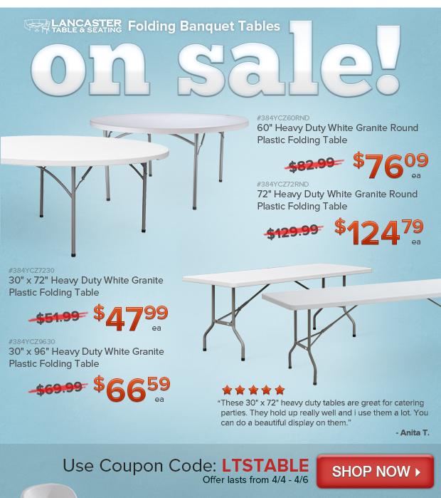 Folding Banquet Table Sale!