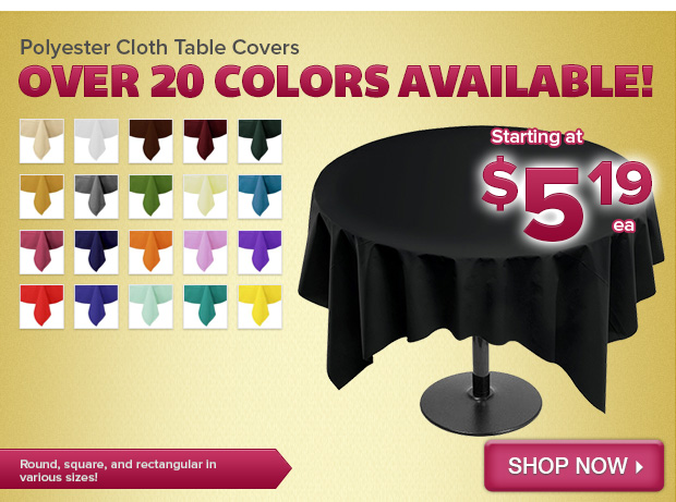Polyester Cloth Table Covers
