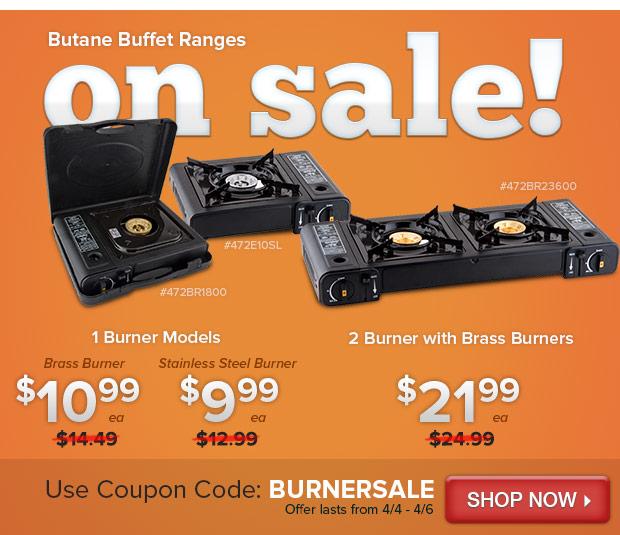Butane Buffet Ranges on Sale