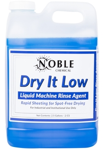 Noble Chemical 2 5 Gallon Dry It Low Rinse Aid Drying