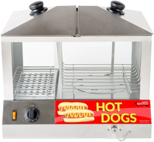 perfect for carnivals concessions and vending carts this 1300w hot dog steamer keeps your hot dogs at the perfect serving temperature and humidity all - Hot Dog Warmer