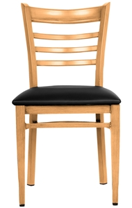 ... Series Metal Ladder Back Chair With A Natural Wood Grain Finish Has A  Variety Of Great Qualities That Distinguish It From Ordinary Restaurant  Chairs.