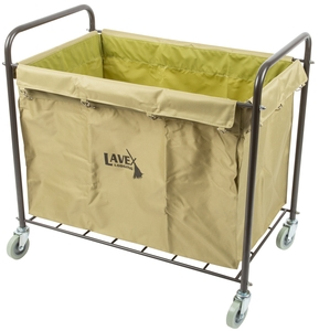 perfect for hotels motels nursing homes and more this rolling laundry cart features a heavyduty canvas bag that can support large amounts of trash or