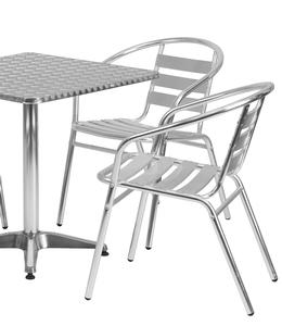 Flash Furniture Tlh Alum 28sq 017bchr4 Gg 27 1 2 Quot Square