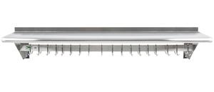 regency 12 x 60 stainless steel wall mounted pot rack. Black Bedroom Furniture Sets. Home Design Ideas
