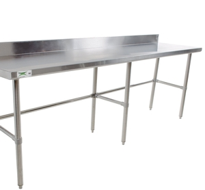 Perfect For Rolling Out Dough Or Chopping Fruits And Vegetables, This Work  Table Boasts A Large Work Surface And A Backsplash. Additional Work Space  Creates ...