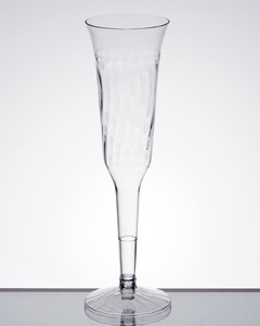 add affordable elegance to your next event with this fineline flairware 5 oz clear plastic 2 piece champagne flute
