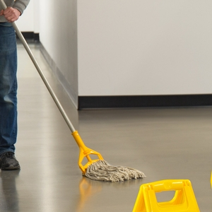 Lavex Janitorial Wet Mop Kit Yellow Bucket