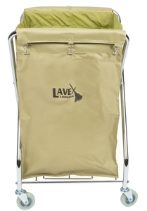 perfect for hotels motels nursing homes and more this rolling laundry cart features a durable canvas bag that can support large amounts of trash or