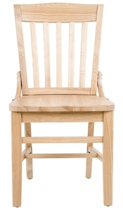 If Youu0027re Looking For An Old School Seating Option For Your Establishment,  Then This Lancaster Table U0026 Seating Natural Finish Wooden School House Chair  Is ...