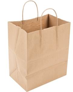 Duro Bistro Natural Kraft Paper Shopping Bag with Handles 10