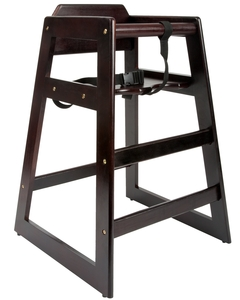 Keep Your Smaller Guests Safe And Comfortable With The Lancaster Table U0026  Seating Stacking Restaurant Wood High Chair.