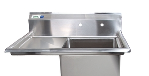 Pair A Durable, Compact Sink With A Convenient Drainboard And You Get This  Regency Stainless Steel Sink! Itu0027s Great For Tight Spaces Or Smaller ...