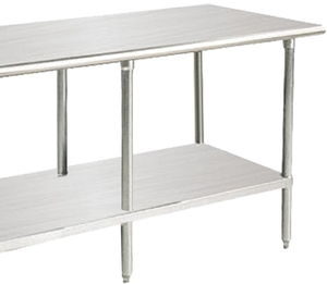 advance tabco ms 308 30 x 96 16 gauge stainless steel commercial