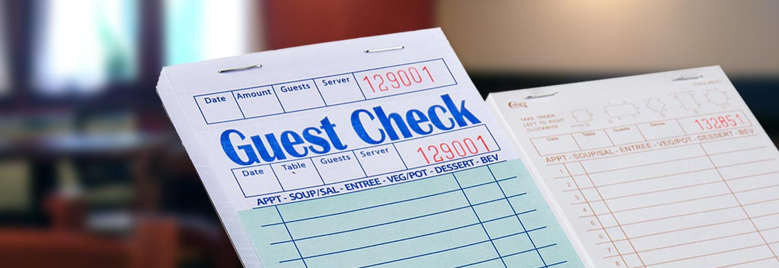 Types of Guest Checks