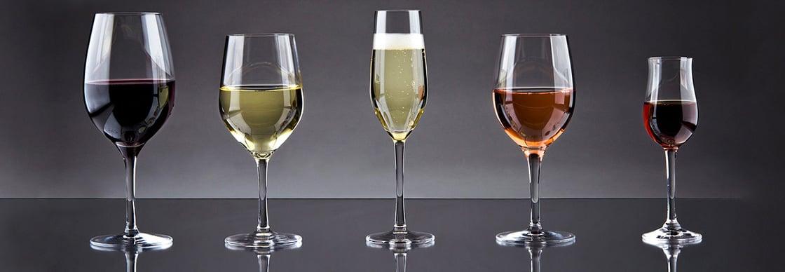 Types Of Wine Glasses Choosing Red White Rose Glasses