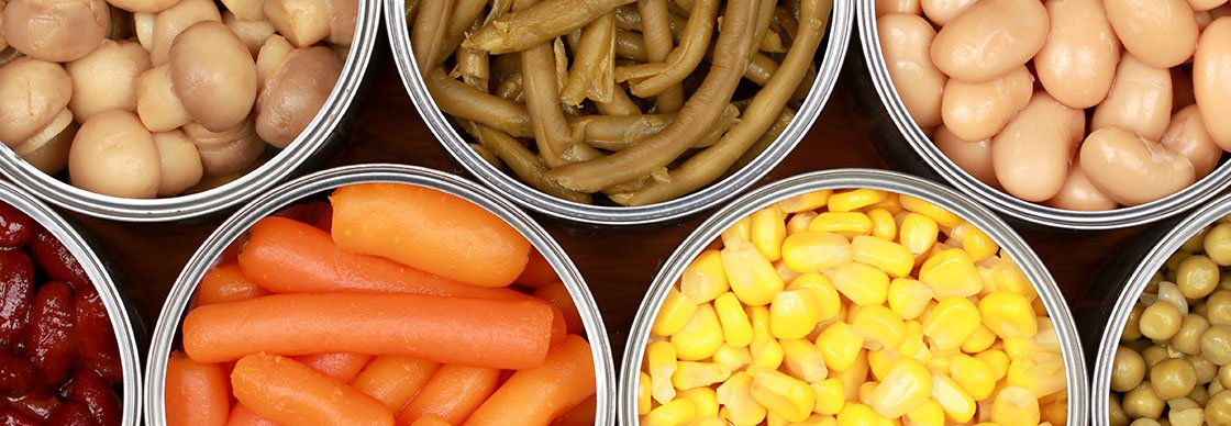Units commercial canned vegetables