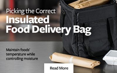 Picking an insulated food delivery bag